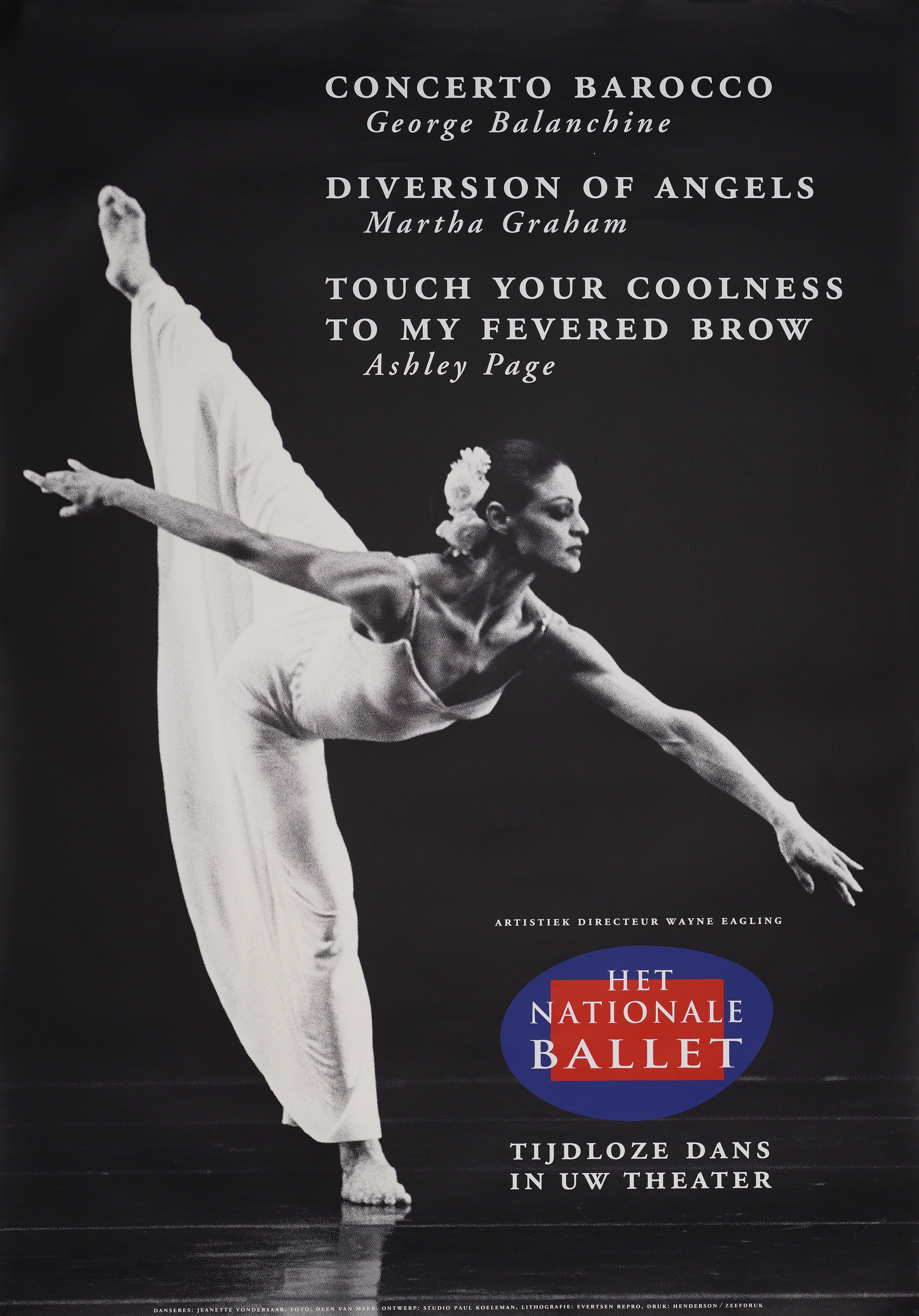 Affiche - Het Nationale Ballet - Concerto Barocco