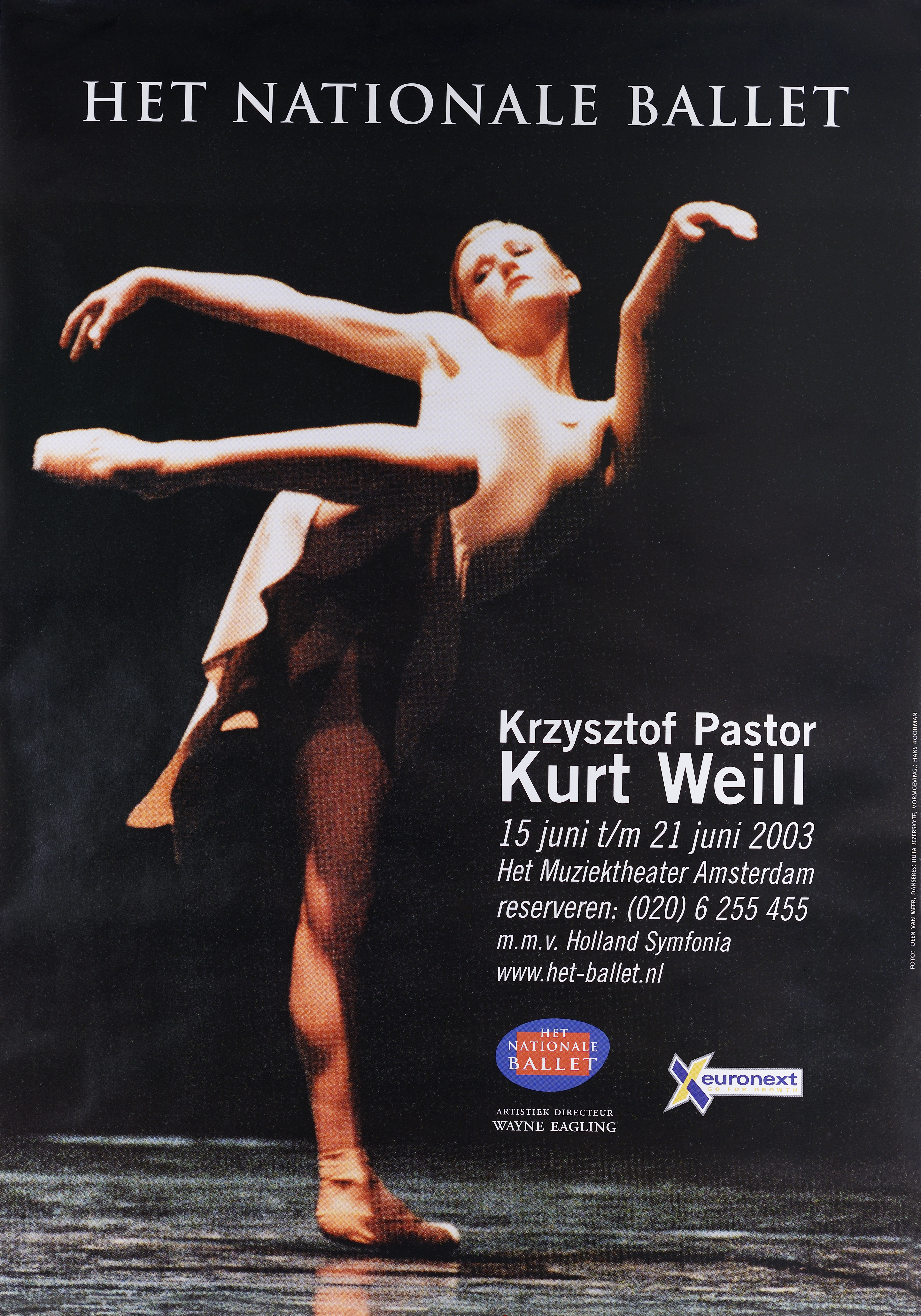 Affiche - Het Nationale Ballet - Kurt Weill
