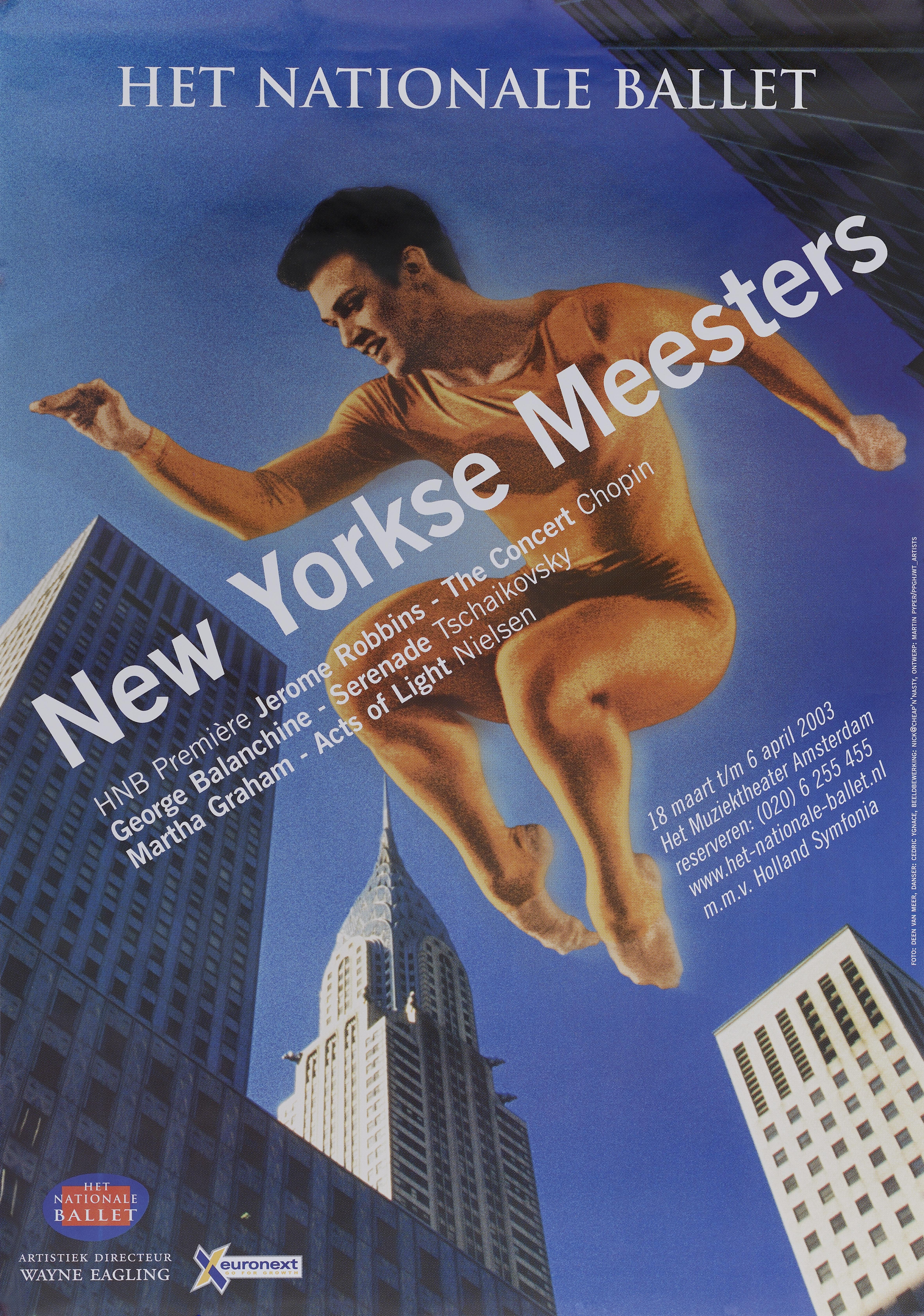Affiche - Het Nationale Ballet - New Yorkse Meesters